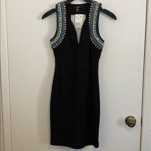 NWT H&M S/L Embellished Dress in Size XS